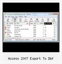 Convert Dbf Codepage access 2007 export to dbf
