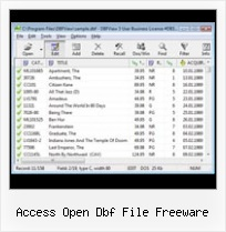 Opening Dbf Files In Access access open dbf file freeware