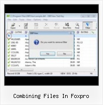 Program Dbf combining files in foxpro