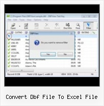 Open Dbf Edit convert dbf file to excel file