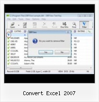 Program Open Dbf convert excel 2007