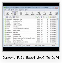 Excel Inport Data From Dbf convert file excel 2007 to dbf4