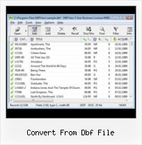 Convert Win Dos Dbf convert from dbf file