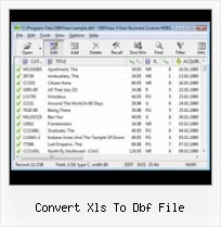 Foxuser Dbf Import Export Database convert xls to dbf file
