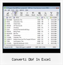 Foxpro Table Viewer converti dbf in excel