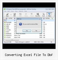 Open Edit Dbf Files converting excel file to dbf