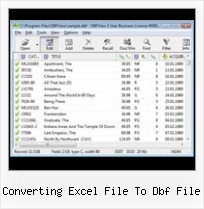 Fox Pro Files Editor converting excel file to dbf file