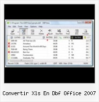 Import Dbf To Excel 2007 convertir xls en dbf office 2007