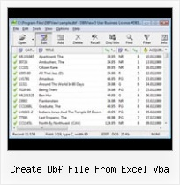 Excel Et Dbf create dbf file from excel vba