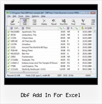 Import Xls Into A Dbf dbf add in for excel