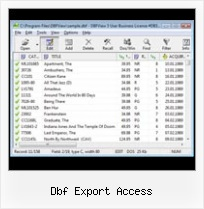 Converting A Dbf To Csv dbf export access