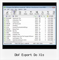 Dbf Foxpro File dbf export do xls