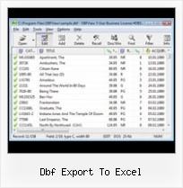 Xls To Dbf Excel 2007 dbf export to excel