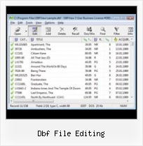 Converting Dbase To Excel dbf file editing