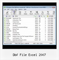 Can Dbf Files Be Edited dbf file excel 2007