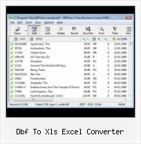 Dbf Editor Free Download dbf to xls excel converter