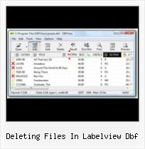 How To Oepn Dbf deleting files in labelview dbf