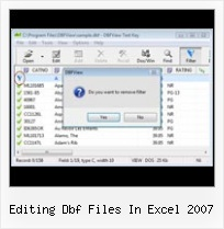 Excel 2007 Dbf Save As editing dbf files in excel 2007