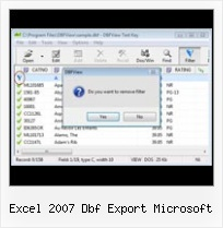 Access To Dbase excel 2007 dbf export microsoft