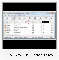 How To View Foxpro Dbf excel 2007 dbf format files