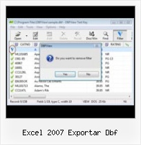 Modifing Dbf File In Foxpro excel 2007 exportar dbf