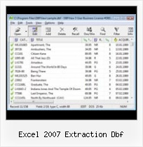Dbf Foxpro File excel 2007 extraction dbf