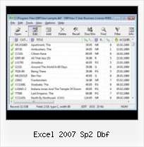 Export Excel Into Dbf excel 2007 sp2 dbf