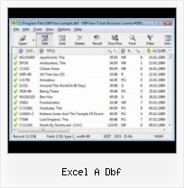 Dbf File Opening excel a dbf