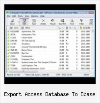 Modify Dbf Files export access database to dbase