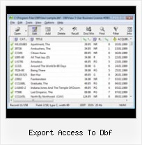 Dbf Format Software export access to dbf
