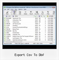 Software For Dbf export csv to dbf