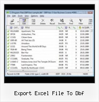 Dbf Manager export excel file to dbf