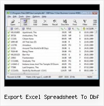 Delete Dbf File export excel spreadsheet to dbf