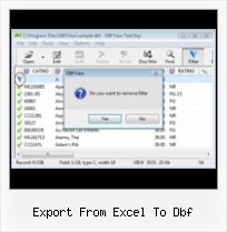 Dbfview From Apycom export from excel to dbf
