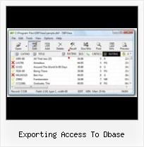 Covertire Dbf In Xls exporting access to dbase