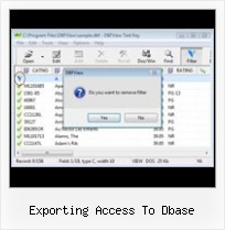 Cdbf Dbf Viewer And Editor exporting access to dbase