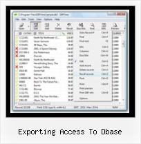Excel To Dbf exporting access to dbase