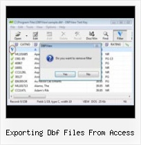Foxpro Dbf Repair exporting dbf files from access