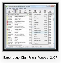Dbf Convert Full exporting dbf from access 2007