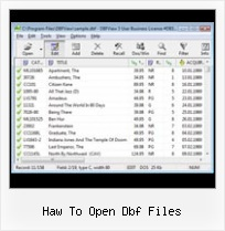 Conversion Xls Dbf haw to open dbf files