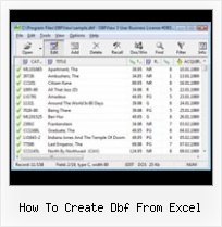 Convertir Fichier Dbf En Xls how to create dbf from excel