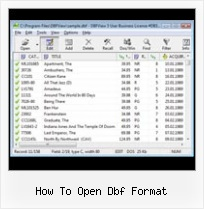 Dbf Info how to open dbf format