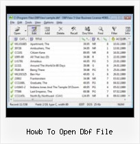 Dbf Files Reader howb to open dbf file