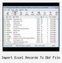 How To Convert Dbf File import excel records to dbf file