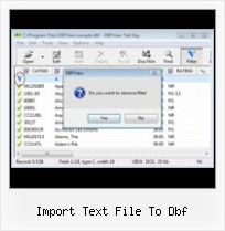 Office 2007 Excel Export Dbf import text file to dbf