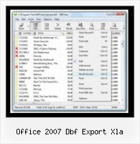 Dbase Software office 2007 dbf export xla