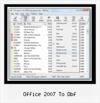 Dbf Data Viewer office 2007 to dbf