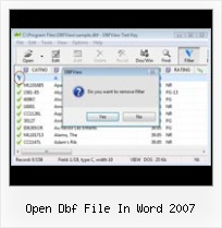 Dbf To Excel How To open dbf file in word 2007