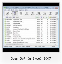 Excel Inport Data From Dbf open dbf in excel 2007