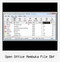 How To Conver Excel To Dbf open office membuka file dbf